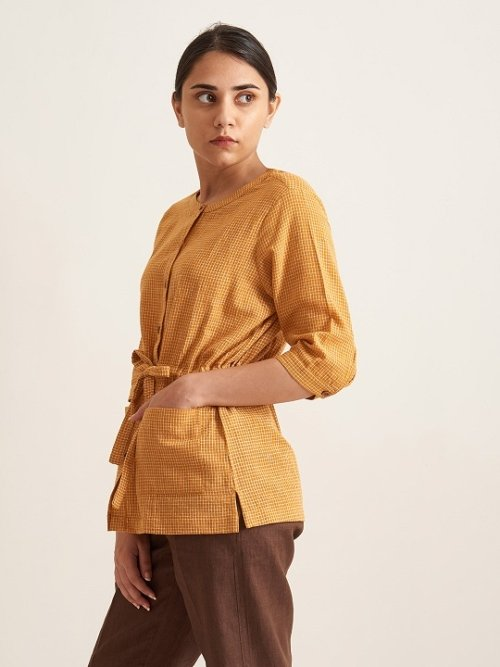 Organic Clothing Linen Woman Shirt