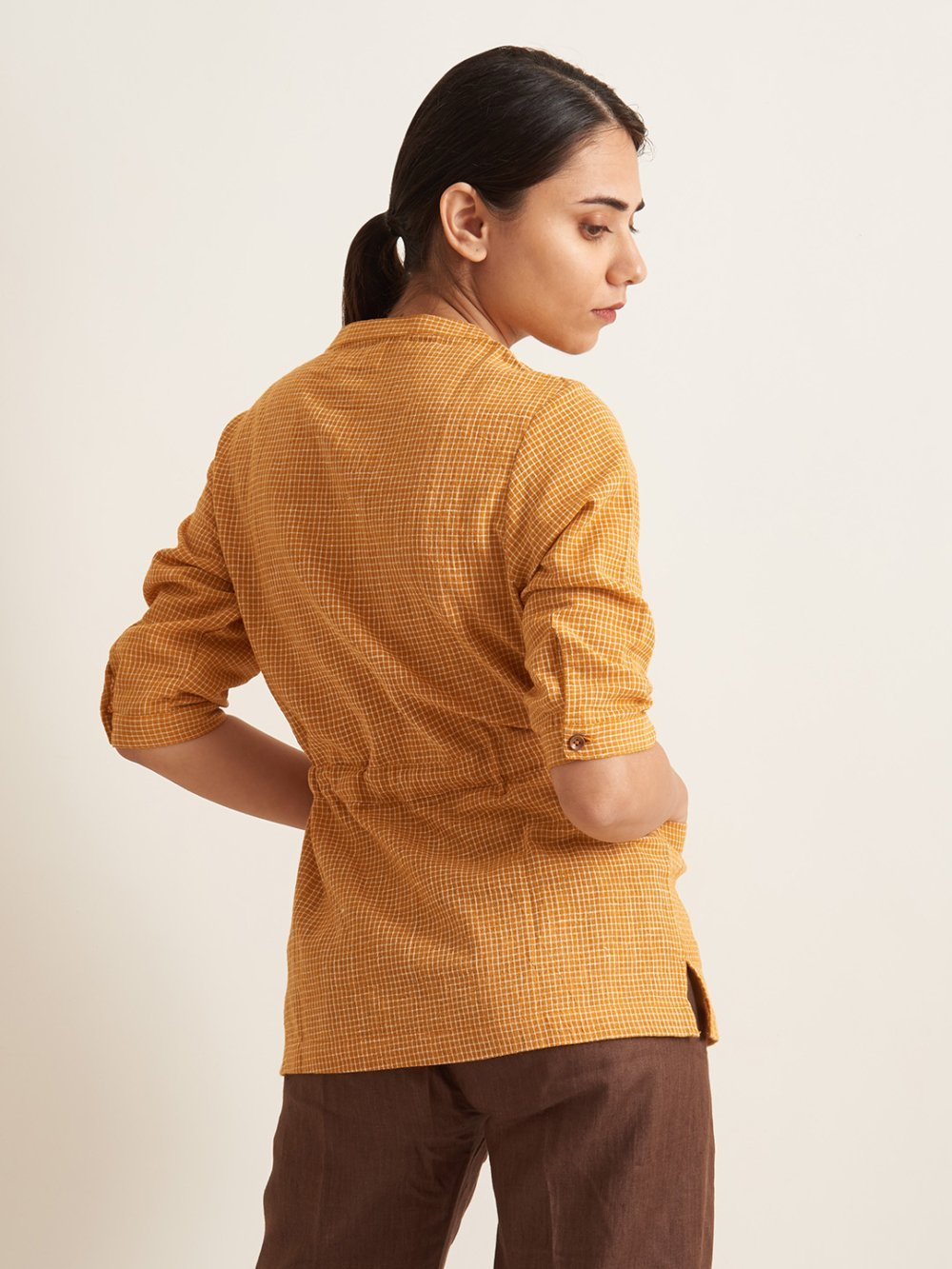 Organic Clothing Linen Woman Shirt
