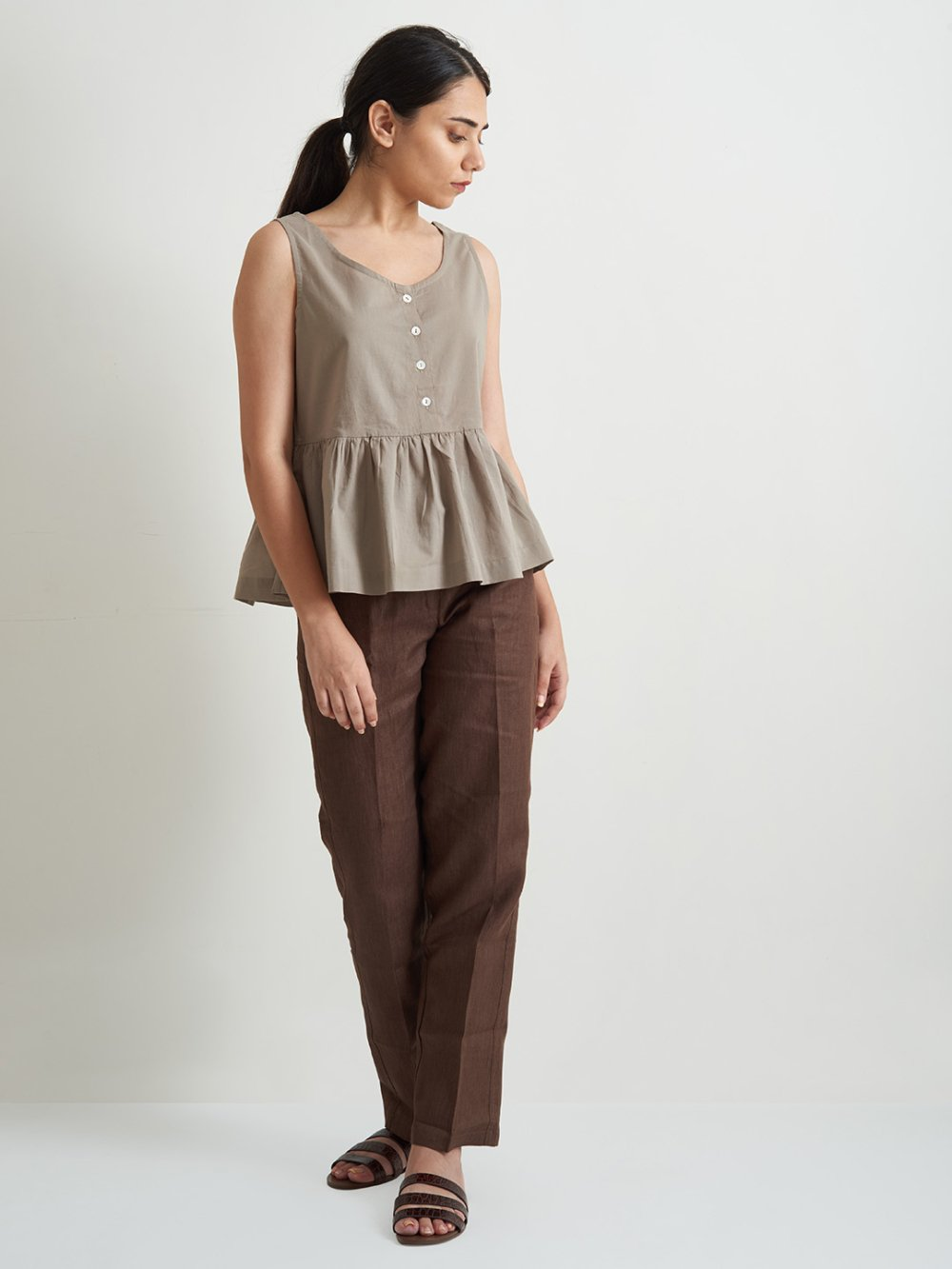 Organic Clothing Linen Woman Top