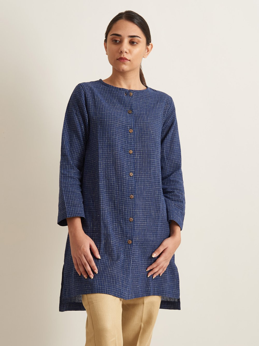 Organic Clothing Linen Women Kurti